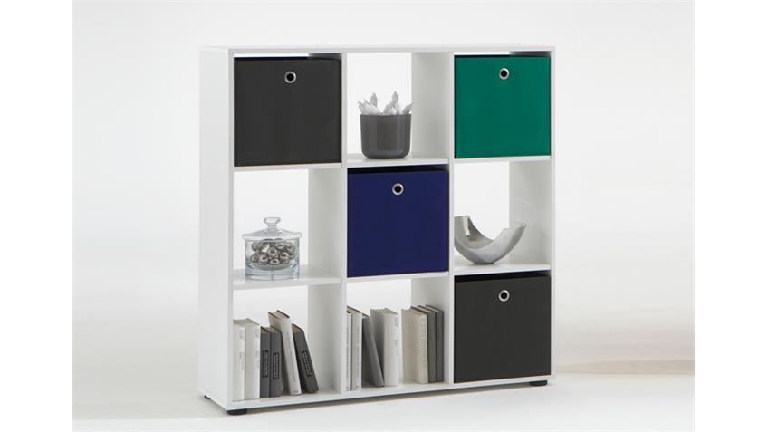 Raumteiler MEGA 5 Bücherregal Regal in weiß mit 9 Fächern