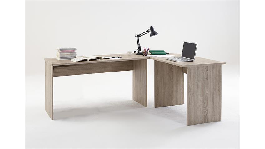 Schreibtisch Kombi TILL Sonoma Eiche sägerau