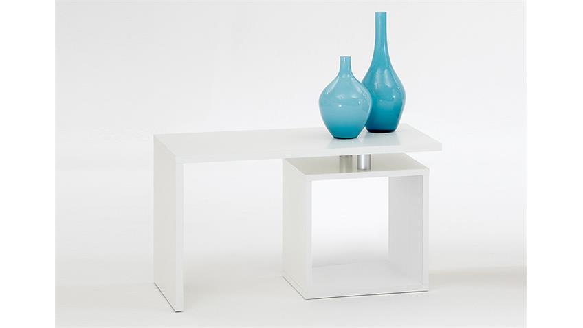 Couchtisch KLARA Tisch Beistelltisch in weiß Dekor