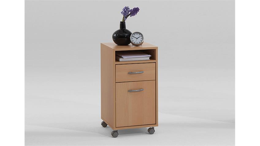 Rollcontainer FELIX 2 Bürocontainer Rollschrank Buche Dekor
