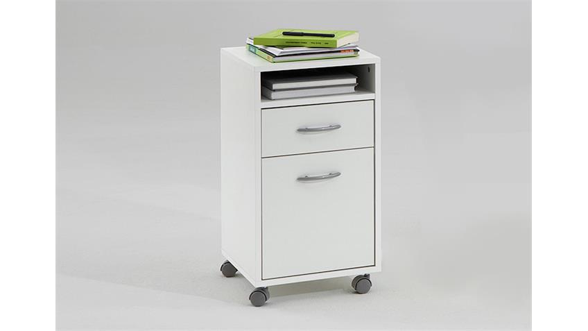 Rollcontainer FELIX 2 Bürocontainer Rollschrank Wagen weiß