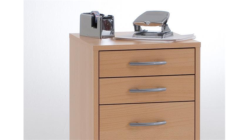 Rollcontainer FREDDY Bürocontainer Rollschrank in Buche