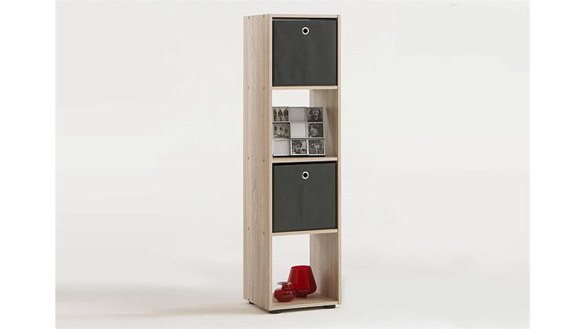 Raumteiler MEGA 4 Bücherregal Regal in Sonoma Eiche sägerau