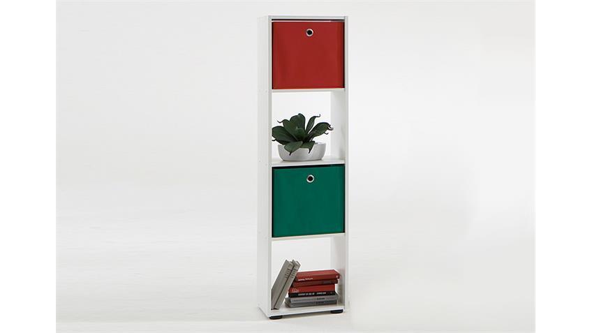 Raumteiler MEGA 4 Bücherregal Regal in weiß mit vier Fächer