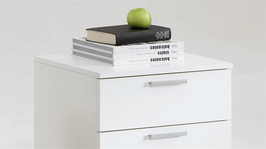 Nachtkommode TRIALS 3 Nachtkonsole Nachttisch in weiß