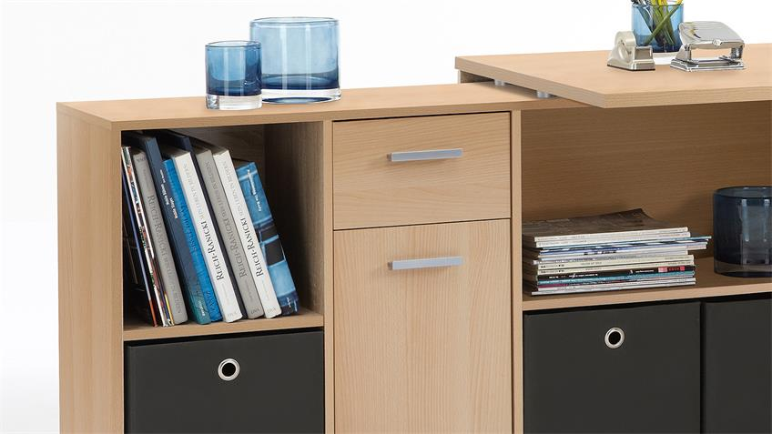 Schreibtisch LEX Winkelkombination Tisch Bürotisch Buche