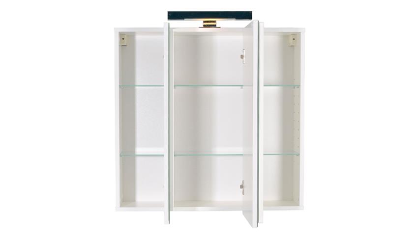 Spiegel ZAMORA Weiß Wandspiegel Badspiegel in weiß Dekor