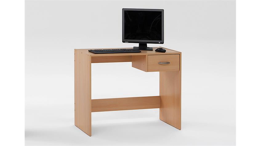 Computertisch PASCAL PC Tisch Schreibtisch in Buche Dekor