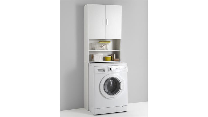 Überbauschrank OLBIA Schrank Badezimmerschrank in weiß