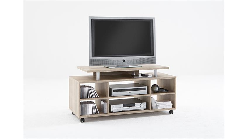 TV Board VARIANT Lowboard TV Regal Eiche 118 cm