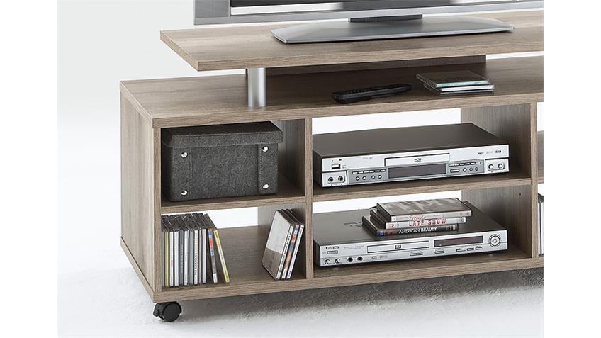 TV Board VARIANT Lowboard TV Regal Hifi in Wildeiche 118 cm