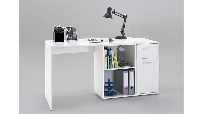 Schreibtischkombination ALBRECHT inkl. Kommode in Weiß