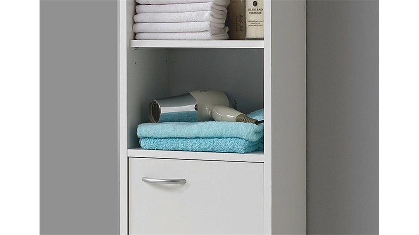 Hochschrank MADRID 3  in Weiß für das Badezimmer