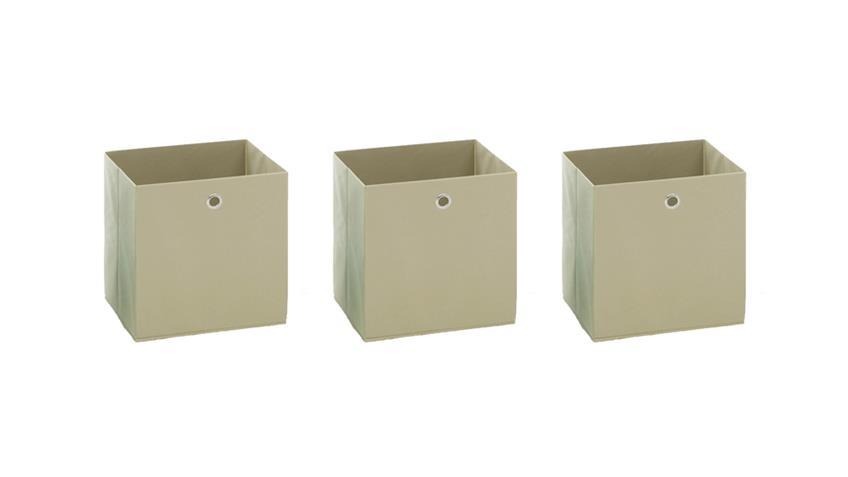 Faltbox 3er Set MEGA 3 Regalkorb weiß natur für Raumteiler