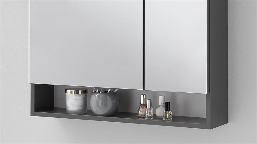 Spiegelschrank NEPAL in anthrazit inkl. LED-Beleuchtung