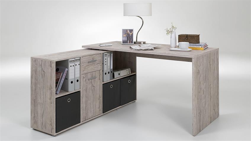 Schreibtisch LEXX Eckschreibtisch Bürotisch Sandeiche