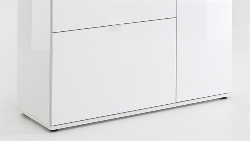 Mehrzweckkommode COMBI 2 UP in weiß Hochglanz
