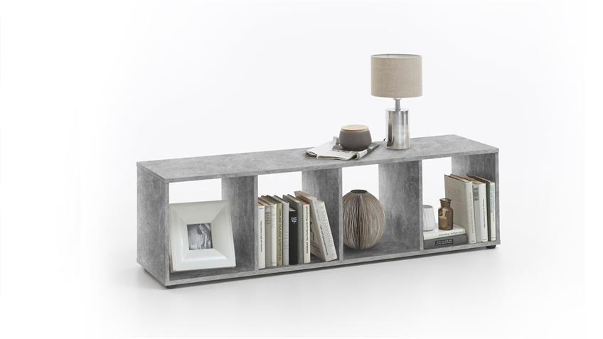 Regal Raumteiler MEGA 4 Bücherregal in Beton mit 4 Fächern