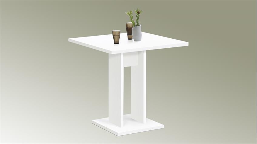 Tisch Bandol Esstisch weiß Küchentisch 70 x 70 cm