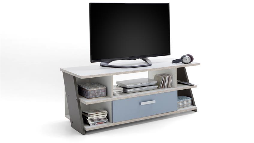 TV-Board Nona in Sandeiche mehrfarbig Jugendzimmer Lowboard