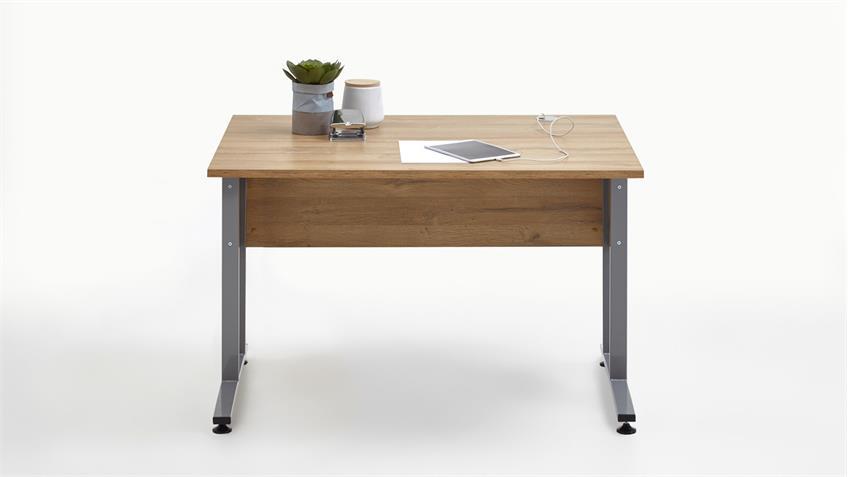 Schreibtisch CALVIA 1 Bürotisch Computertisch Tisch Alteiche 120x80 cm