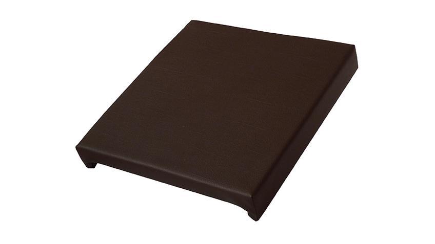 Klemmkissen MADAGASKAR Lederlook braun Sitztiefe 37 cm