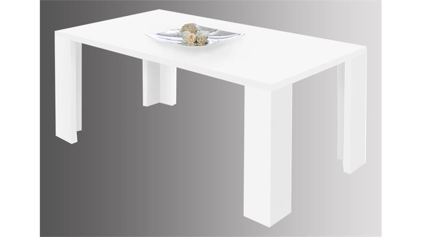 Esstisch SIENA Tisch für Esszimmer in weiß Dekor 160x90 cm