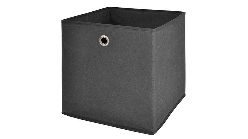Steckregal QuickTec 10er Stufenregal mit Faltboxen anthrazit