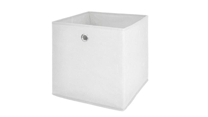 Faltbox FLORI 1 Korb Regal Aufbewahrungsbox Box in weiß
