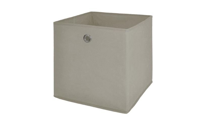 Faltbox FLORI 1 Korb Regal Aufbewahrungsbox Box in beige