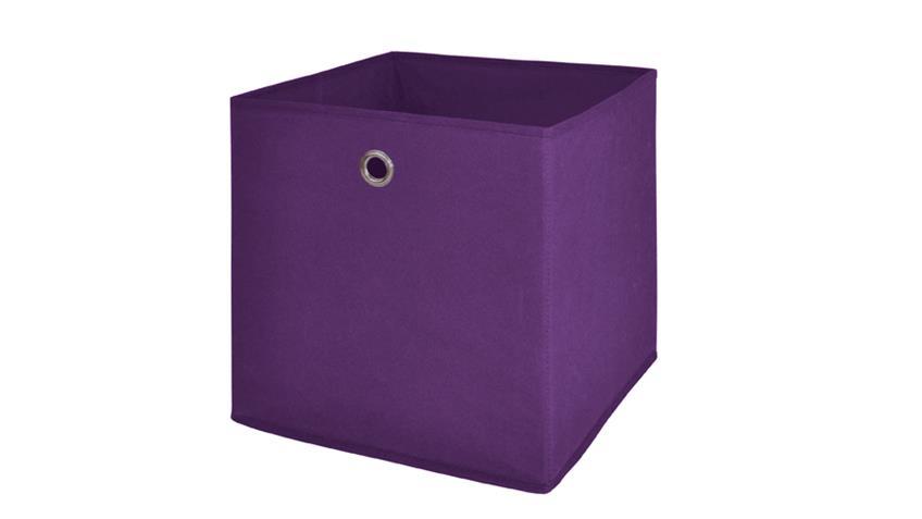 Faltbox FLORI 1 Korb Regal Aufbewahrungsbox in brombeer