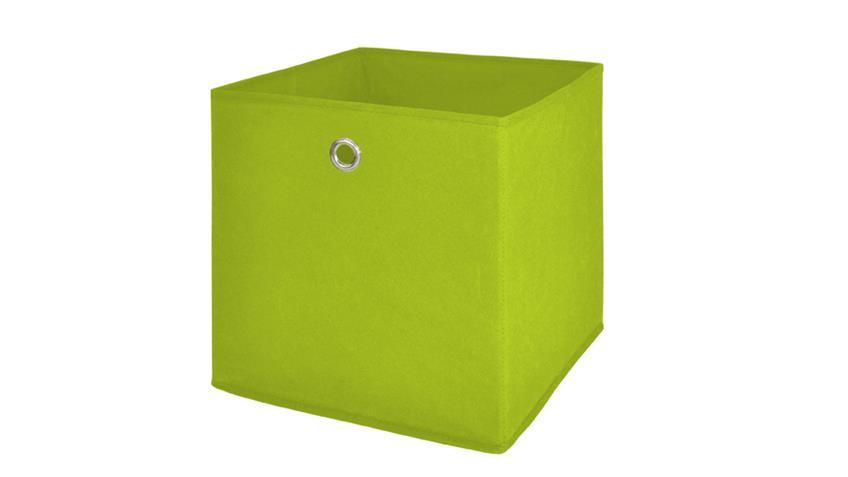 Faltbox FLORI 1 4er Set Regal Aufbewahrungsbox in apfelgrün