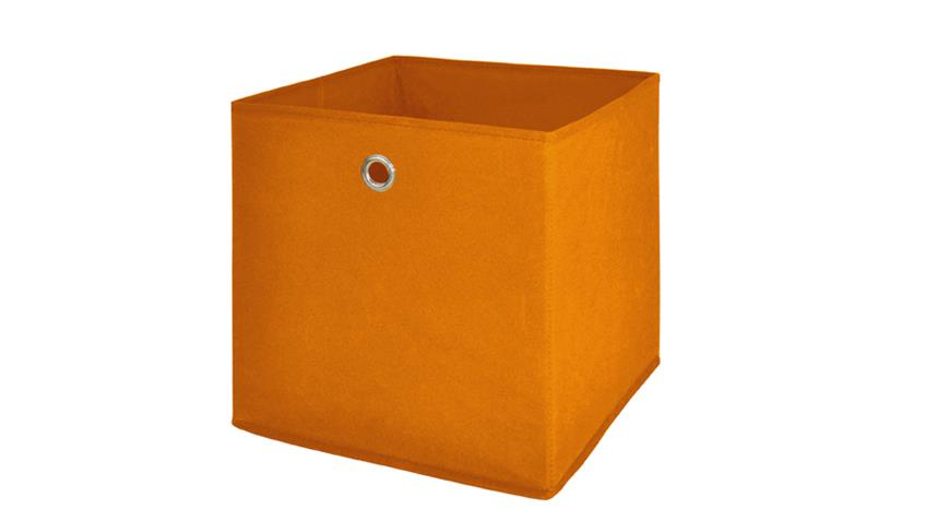 Faltbox FLORI 1 Korb Regal Aufbewahrungsbox in orange