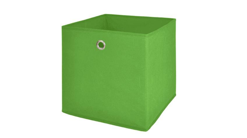 Faltbox FLORI 1 Korb Regal Aufbewahrungsbox in grün 4er Set
