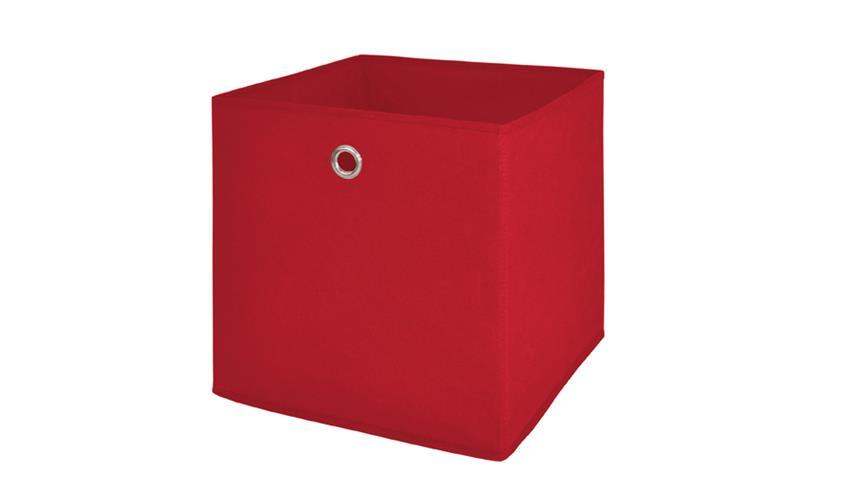 Faltbox 4er Set Korb Aufbewahrungs Box rot 32x32x32 cm