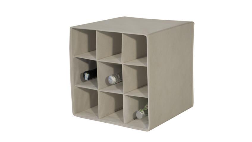 Faltbox FLORI 4 Korb Regal Flaschenablage in beige
