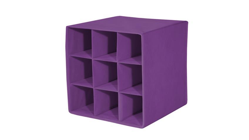 Faltbox FLORI 4 Box Flaschen Aufbewahrungsbox Brombeere