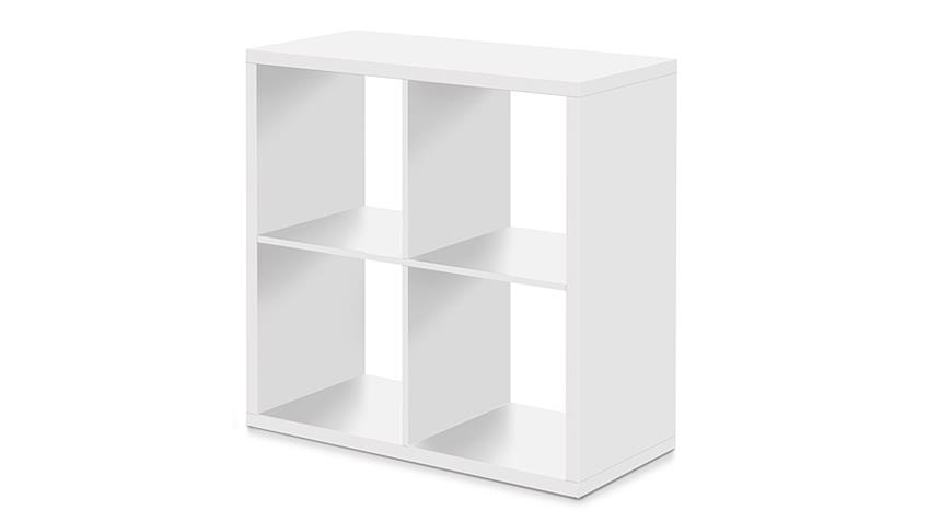 Regal MAX 4 Fächer Würfel Raumteiler in weiß Dekor