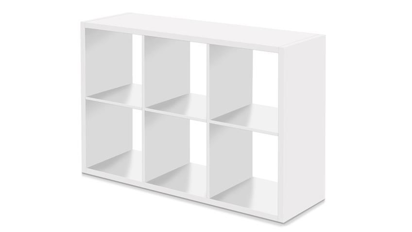 Regal MAX 6 Fächer Raumteiler weiß individuell einsetzbar