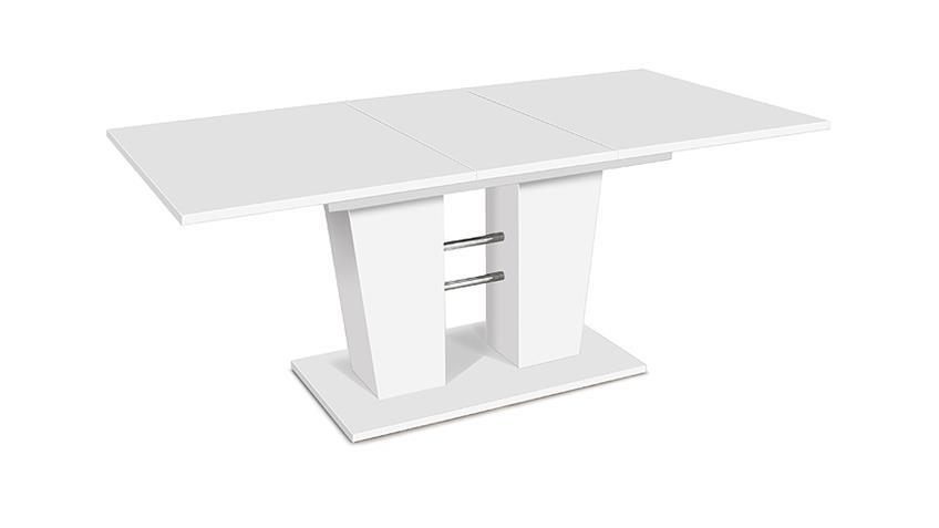 Esstisch BREDA ausziehbar weiß 140/180 x90 cm