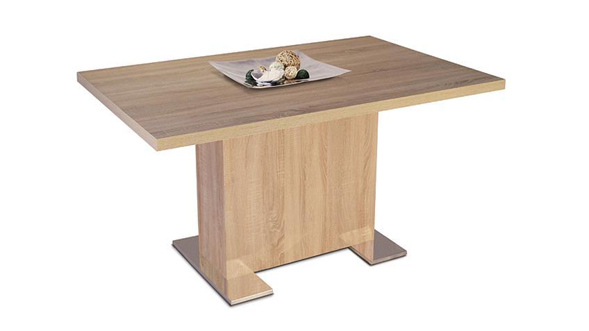 Esstisch BONN Tisch in Sonoma Eiche Dekor 140x90 cm