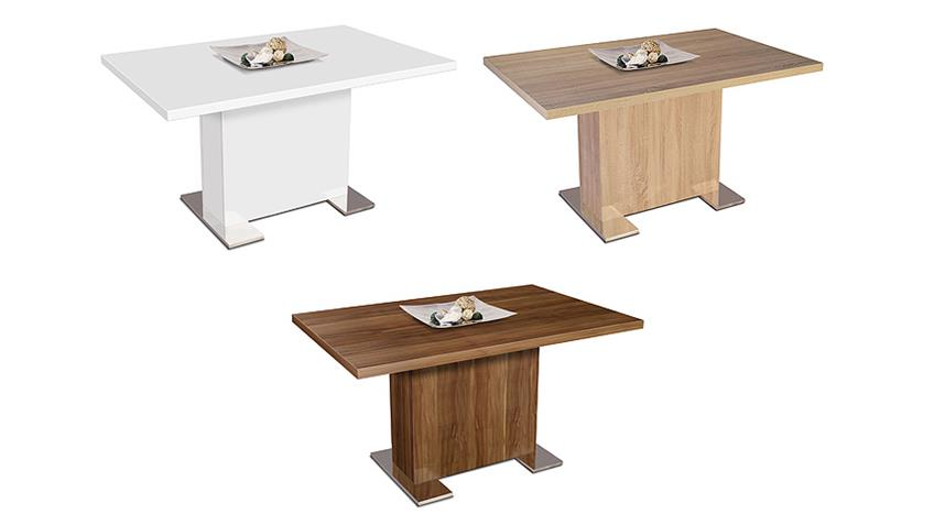 Esstisch BONN Tisch Esszimmertisch in weiß Dekor 140x90 cm
