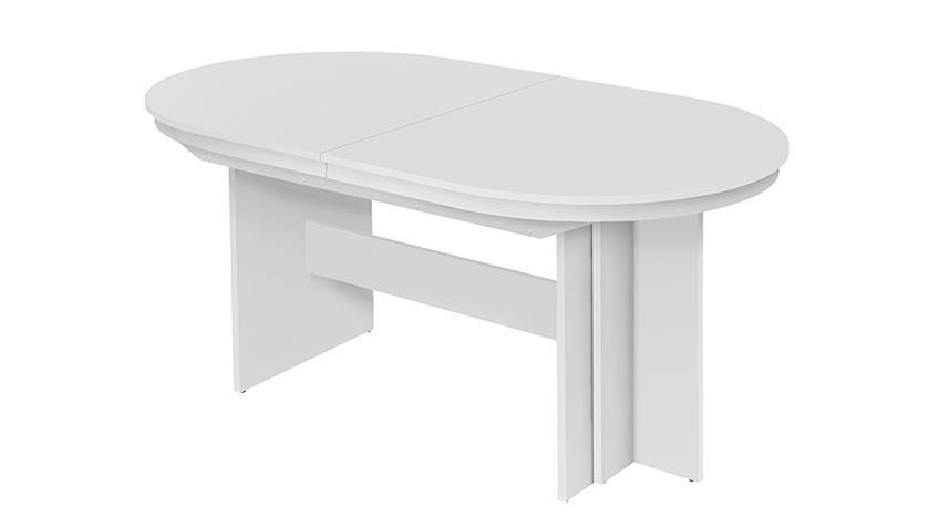 esstisch rom wei er tisch 160x90 cm ausziehbar bis 310 cm. Black Bedroom Furniture Sets. Home Design Ideas