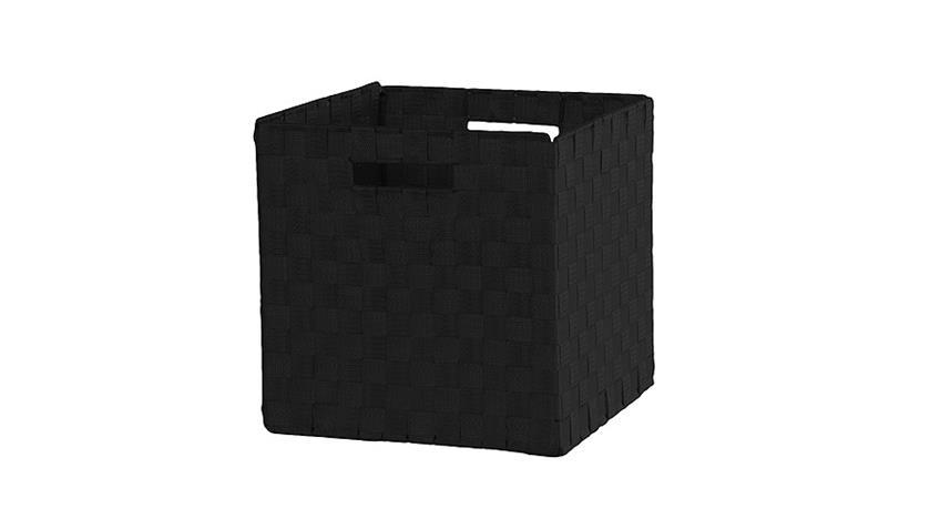 Faltbox FLORI 1 Nylonband geflochten Schwarz
