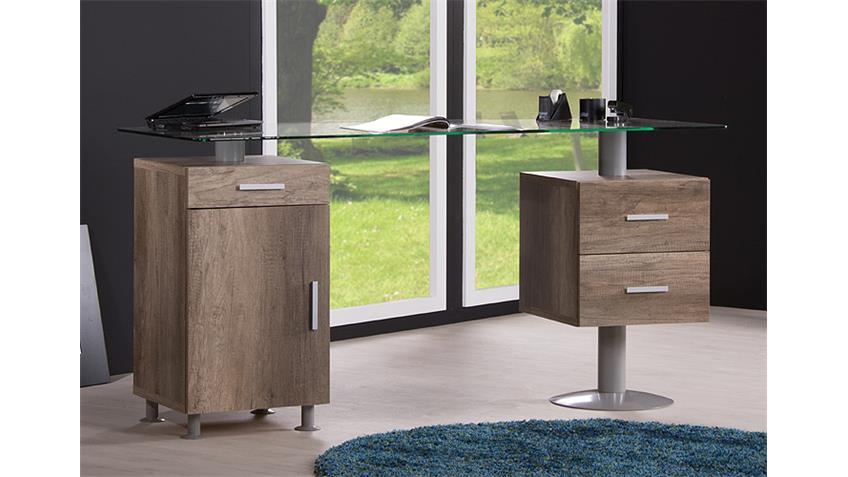 Schreibtisch SANTORIN Tisch Computertisch in Wildeiche Dekor