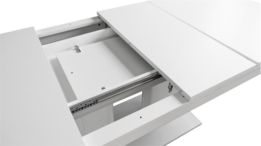 Esstisch HEIDELBERG  Weiß ausziehbar 140-220x90 cm