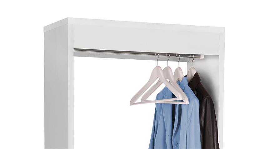 Garderobe MAX Anrichte Paneel in weiß inklusive vier Rollen