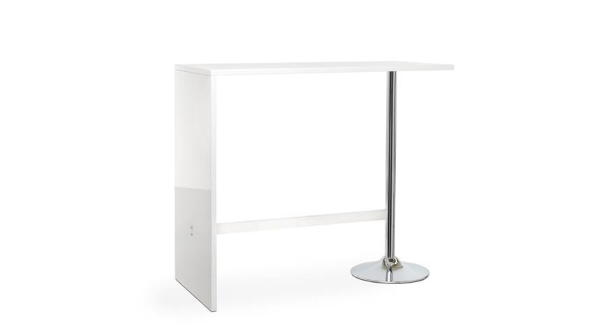 Bartisch PARTY Stehtisch Bistrotisch Tisch in weiß Hochglanz 120 cm