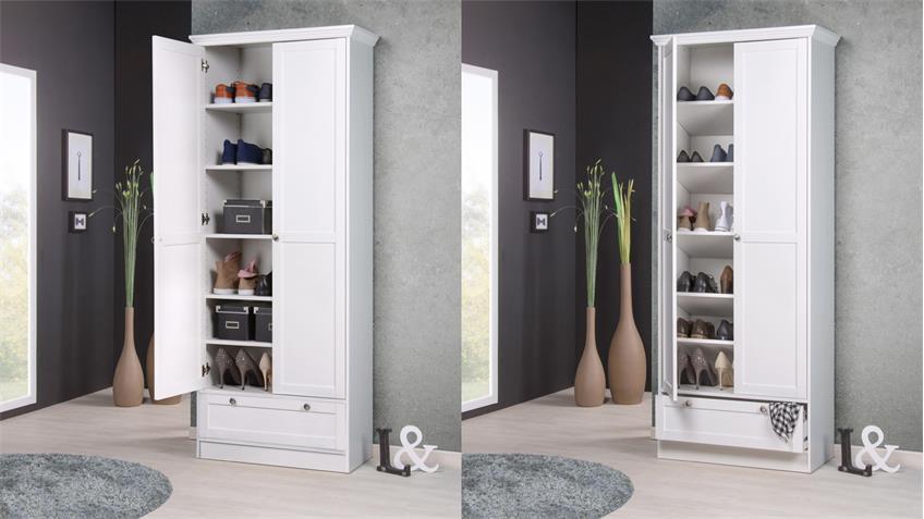 mehrzweckschrank landhausstil landwood schrank wei mit 2 t ren. Black Bedroom Furniture Sets. Home Design Ideas