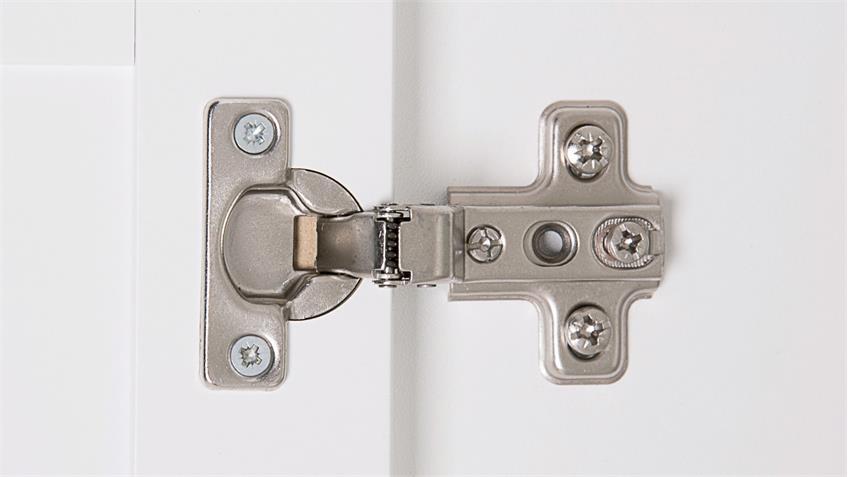 Mehrzweckschrank LANDWOOD Schrank in weiß mit 2 Türen Landhausstil